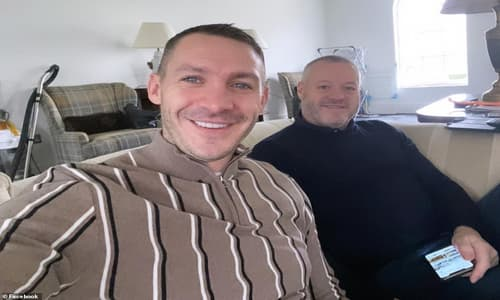 Mick Norcross, in black, with his son Kirk