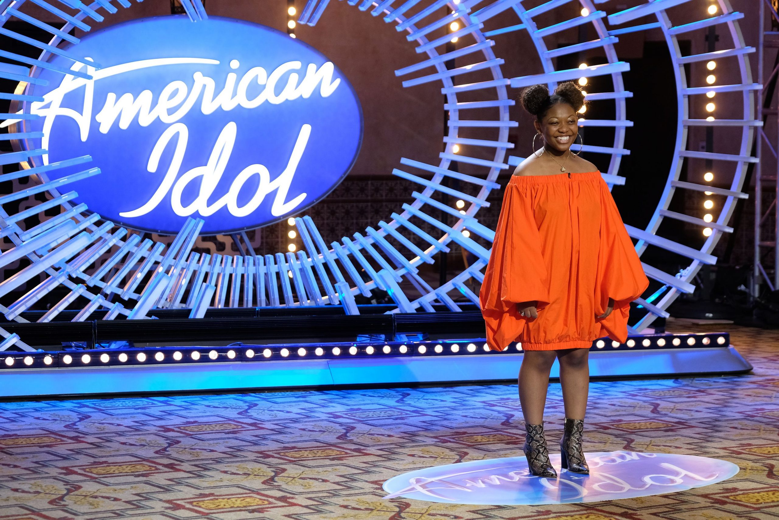 Nia Renee at the American Idol auditions stage