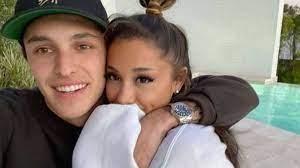 Dalton Gomez with his wife Ariana Grande