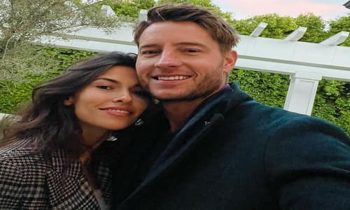 Justin Hartley with his wife Sofia Pernas
