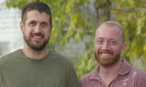Keith Bynum (right) with his partner Evan Thomas (left)