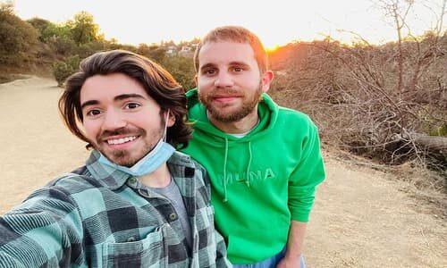 Noah Galvin and his partner Ben Platt